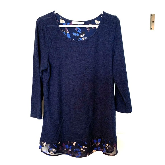 Brand new floral blue sweater